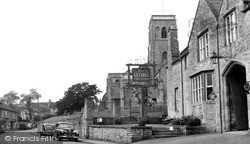 Wedmore, Church Street And The George c.1955