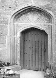 Week St Mary, Old Grammar School Doorway 1951