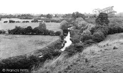 Welford On Avon, The River Avon And Church c.1960