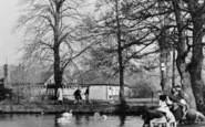 Welling, Feeding The Swans, Danson Park c.1955