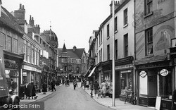Wellingborough, Market Street c.1955