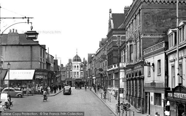 Photo of Wellingborough, Market Street c.1955