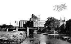 Wellingborough, River Nene And Victoria Mills c.1965