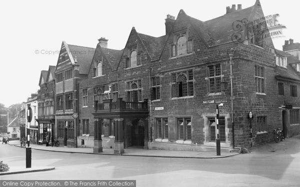 Photo of Wellingborough, The Hind Hotel And Sheep Street c.1955