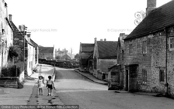 Photo of Wellow, High Street, looking east c1955