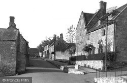 Manor House And High Street c.1955, Wellow