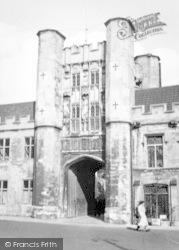 Wells, Abbey Gateway 1950