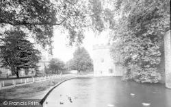 Wells, Bishop's Palace, Drawbridge And Moat c.1939