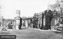 Wells, Bishop's Palace Ruins c.1900