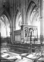 Wells, Cathedral, Bishop Beckington Canopy c.1900