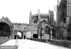 Wells, Cathedral Chain Gate 1890