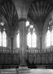 Wells, Cathedral, Chapter House 1890