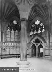 Wells, Cathedral, Chapter House c.1900
