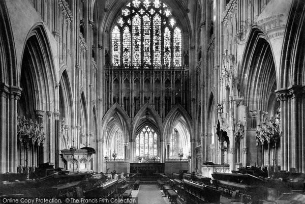 Photo of Wells, Cathedral Choir East 1890
