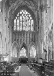 Wells, Cathedral, Choir East 1890