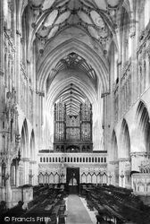Wells, Cathedral, Choir West 1890