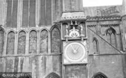 Wells, Cathedral Clock 1959