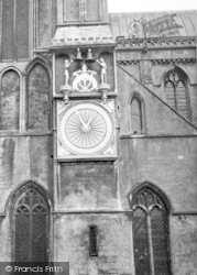 Wells, Cathedral Clock c.1955