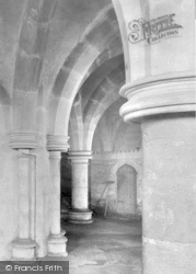 Wells, Cathedral Crypt 1890