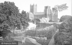 Wells, Cathedral From The North West c.1920