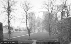 Wells, Cathedral From The Swan Hotel c.1920