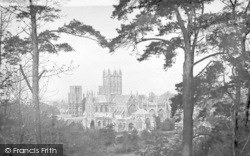 Wells, Cathedral From Tor Hill 1897