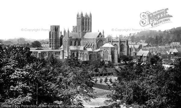 Photo of Wells, Cathedral From Tor Hill c.1900