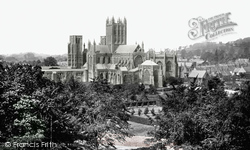 Wells, Cathedral From Tor Hill c.1900