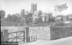 Wells, Cathedral From Tor Hill c.1920