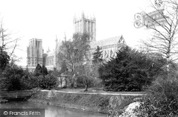 Wells, Cathedral From Waterfall 1890