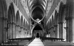 Wells, Cathedral Nave East 1890