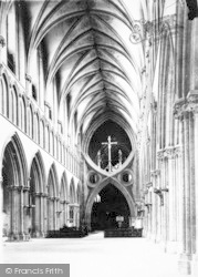 Wells, Cathedral, Nave East c.1920