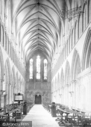 Wells, Cathedral, Nave West 1890