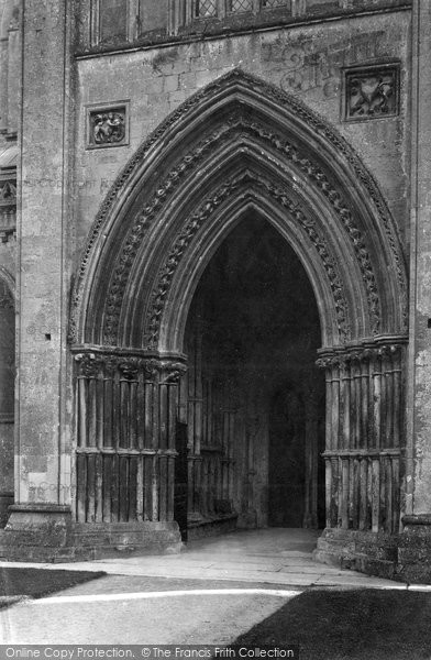 Photo of Wells, Cathedral North Porch 1890