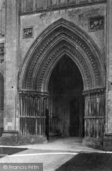 Wells, Cathedral North Porch 1890