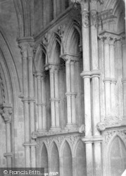 Wells, Cathedral, North Porch Carvings 1890