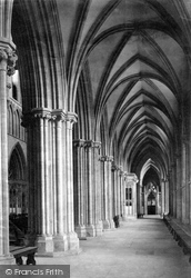Wells, Cathedral South Aisle Nave 1890