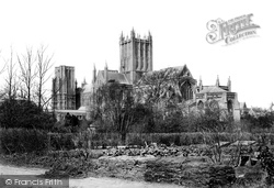 Wells, Cathedral South East From Gardens 1890