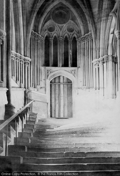 Wells, Cathedral, Stairs To Chapter House 1890