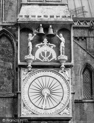 Wells, Cathedral, The Clock c.1950