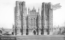 Wells, Cathedral, West Front 1890