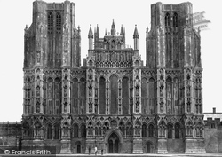 Wells, Cathedral, West Front c.1874