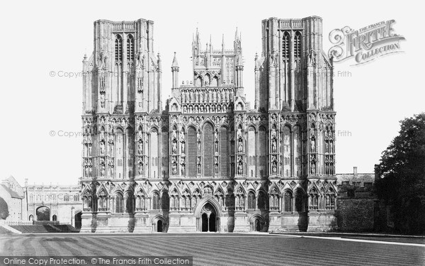 Photo of Wells, Cathedral, West Front c.1900