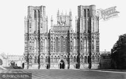 Wells, Cathedral, West Front c.1900