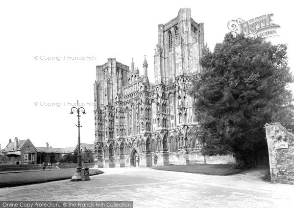 Photo of Wells, Cathedral West Front c.1950
