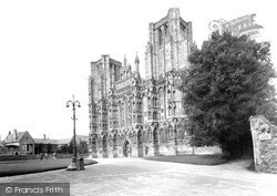 Wells, Cathedral West Front c.1950