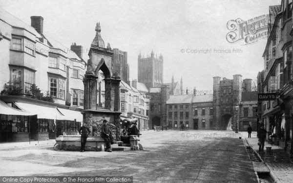 Photo of Wells, Market Place 1890
