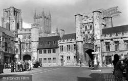 Wells, Market Place c.1950
