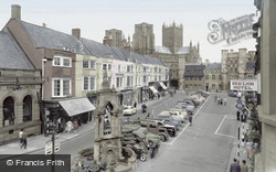Wells, Market Place c.1960
