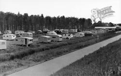 Wells-Next-The-Sea, Caravan Park c.1955